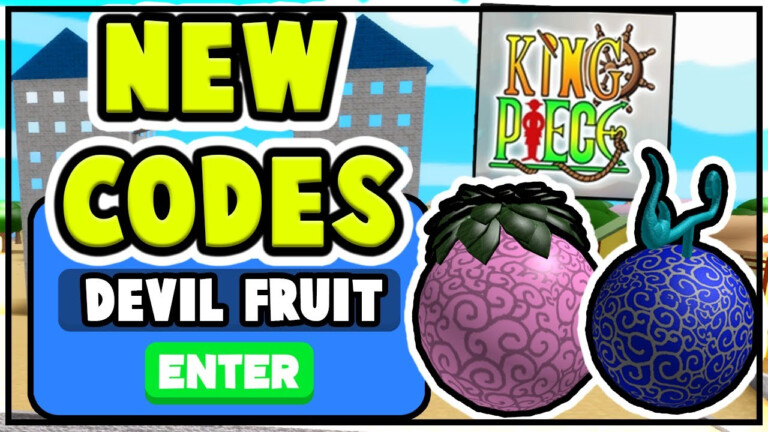 NEW KING PIECE CODES ON ROBLOX FREE DEVIL FRUIT All