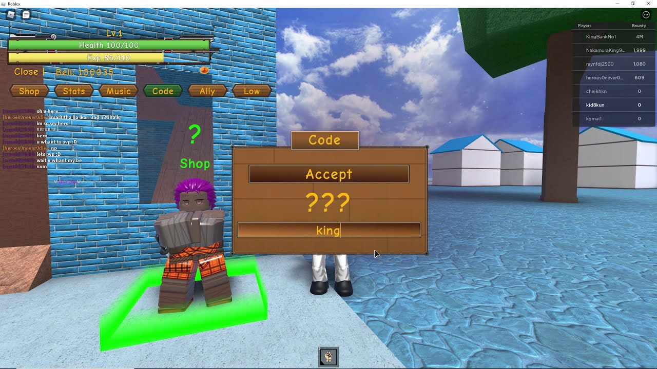 UPDATED CODES King Piece Roblox June 2020 YouTube